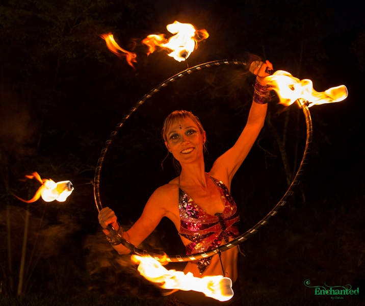 fire hula hoop performances for private or corporate events. www.enchantedbychrista.co.za