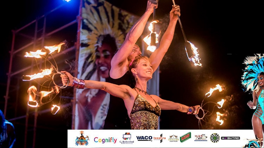 a Fire fans and double staff item performed by our fire duo in Zambia. www.enchantedbychrista.co.za
