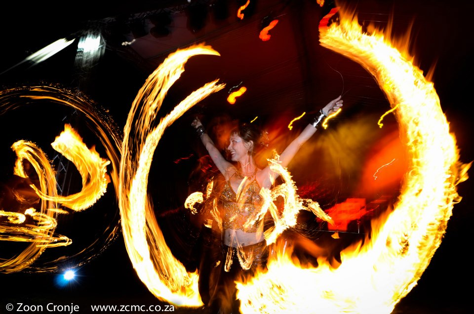 In this photograph it looks like Christa is dancing in the flames. www.enchantedbychrista.co.za