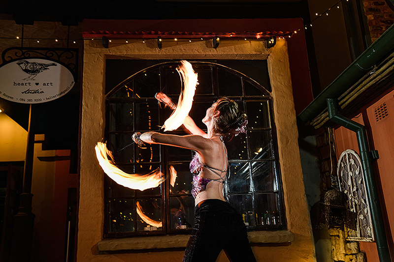 We offer fire dancing performances at Wedding receptions all over South Africa. www.enchantedbychrista.co.za