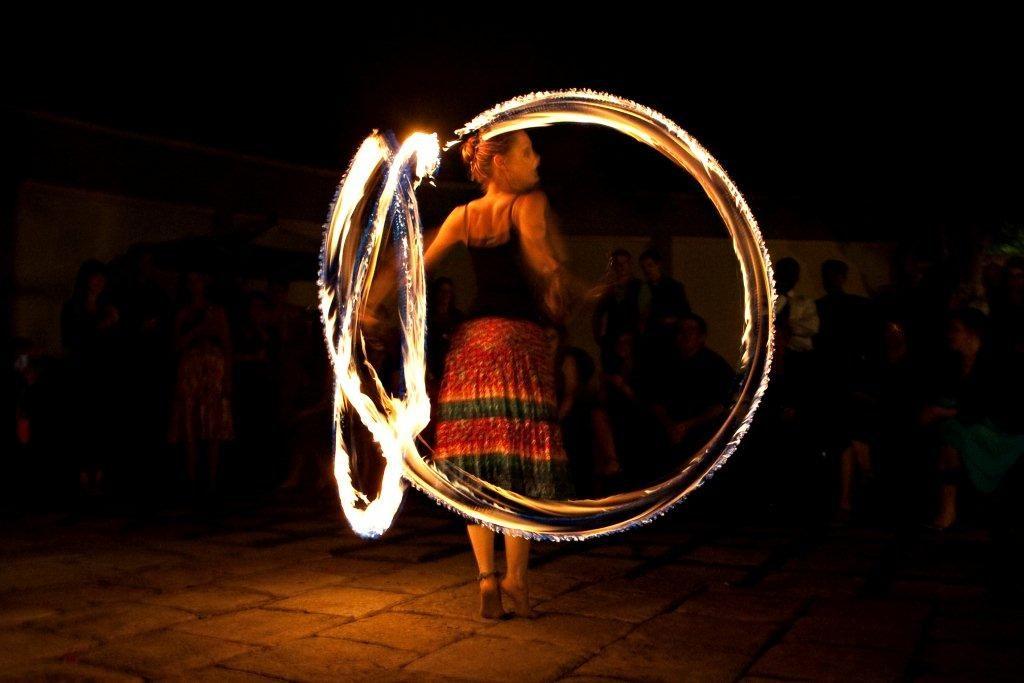 a solo fire poi performance at a wedding in Pretoria. www.enchantedbychrista.co.za