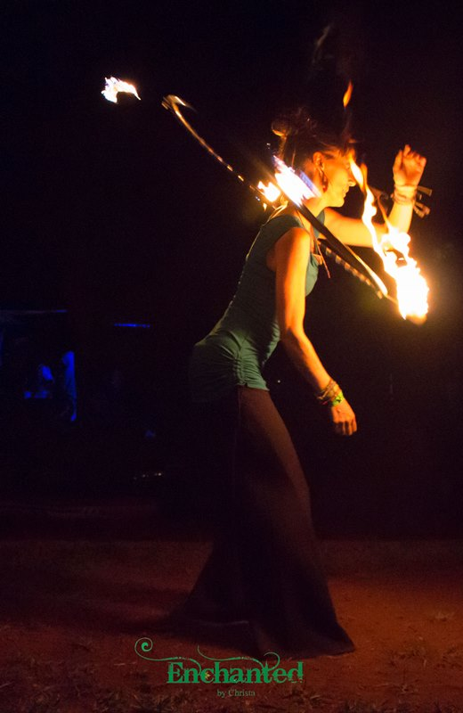 a hula hoop dancer performing with a Fire hula hoop in Muldersdrift, Johannesburg. www.enchantedbychrista.co.za
