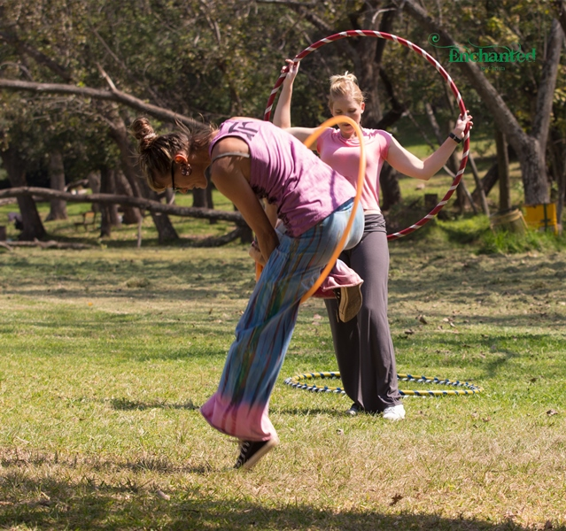 Some hula hooping tricks are more complex but I accommodate all levels of hoopers at my workshops. www.enchantedbychrista.co.za