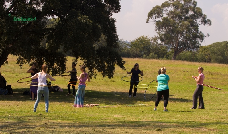 I accommodate all level of hoopers at my hula hooping workshops. www.enchantedbychrista.co.za