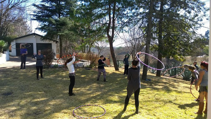 a hula hooping workshop is a fun idea for a group of ladies who want to move and learn to hula hoop in order to stay fit. www.enchantedbychrista.co.za