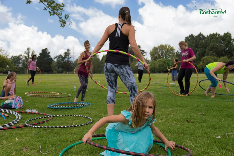 Hula hooping workshops for adults in a safe environment is a great way to relax
