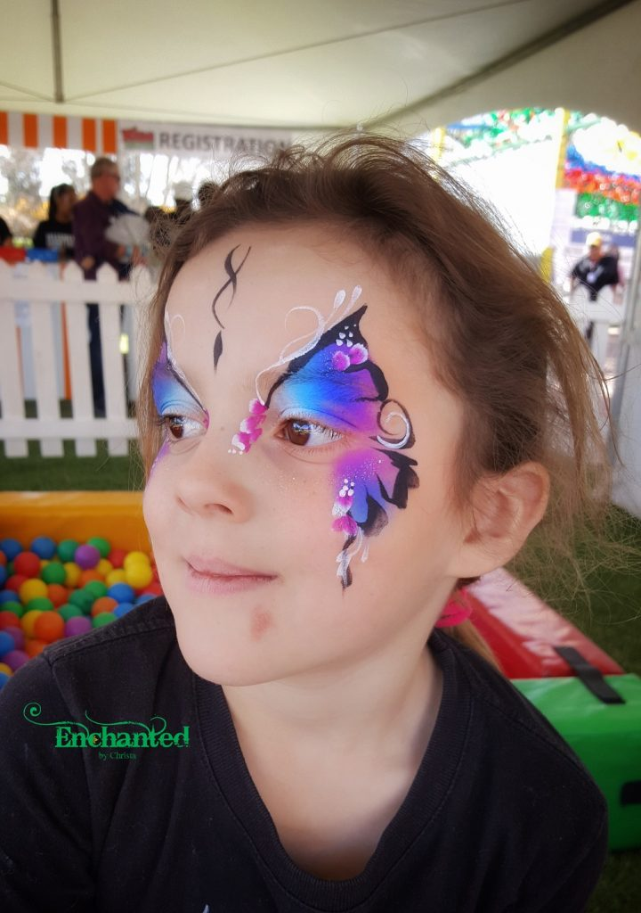 Kids just love this butterfly face paint design