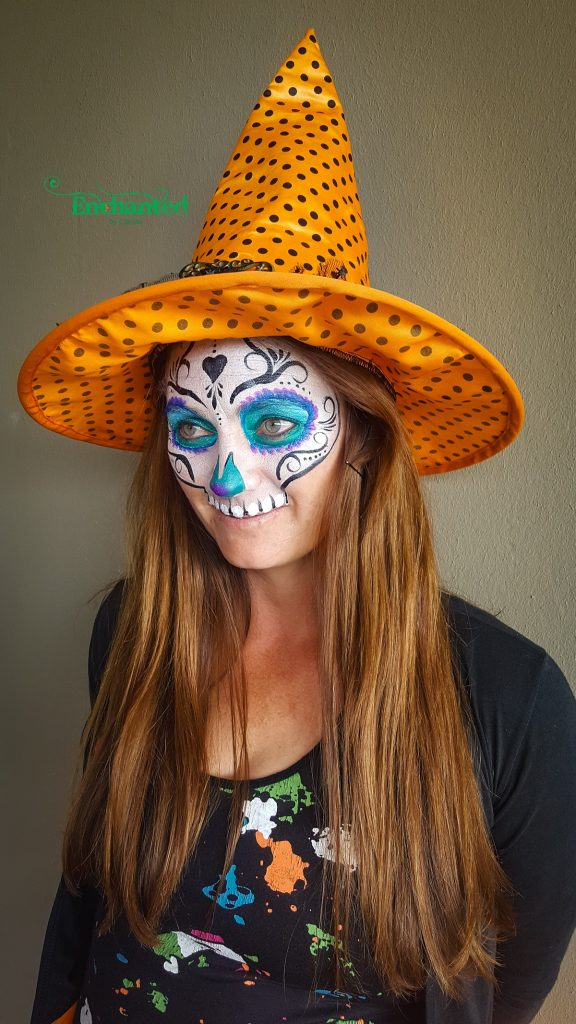 One of the fun halloween face painting designs I did for a trick or treat party in Johannesburg