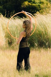 Hula hooping is a fantastic way to keep your waist line trim and slim