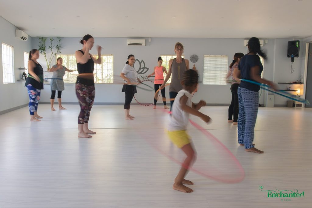Hula hooping classes can be booked for an individual or a group of ladies