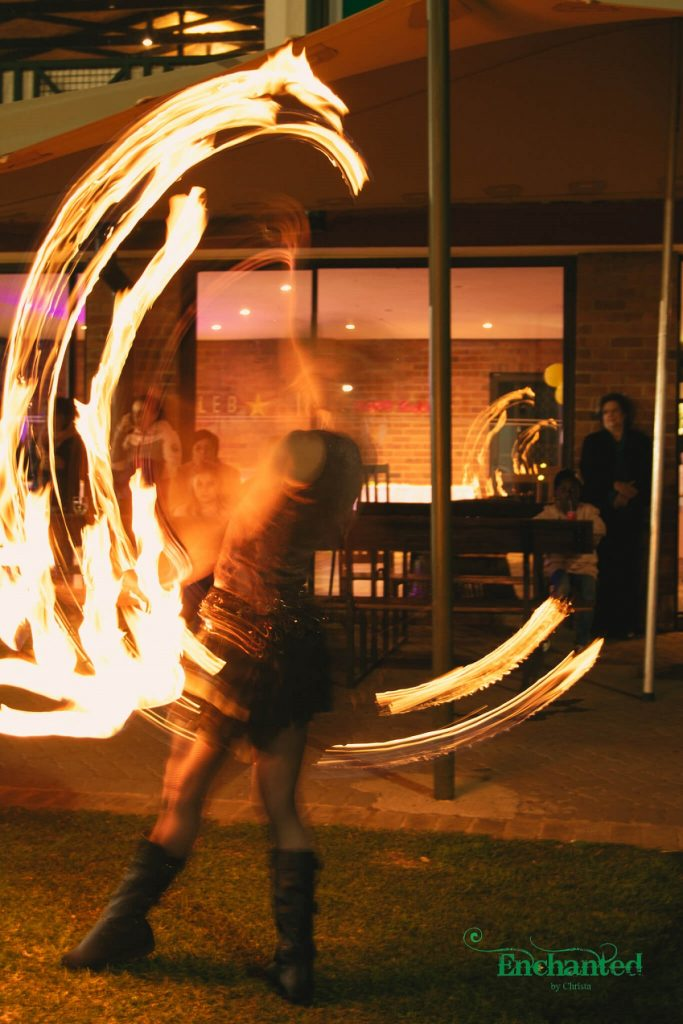 This fire poi item added a wow factor at a 13th birthday celebration