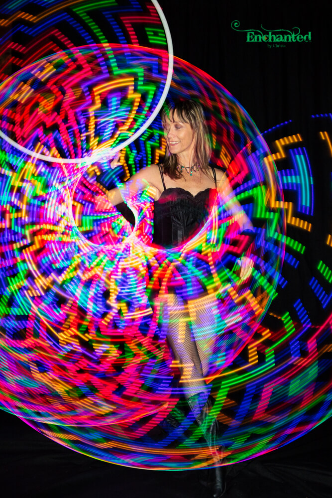 LED hula hoop with multi coloured patterns will add something special to your next birthday celebration
