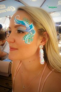 Face painting for women where the theme was Under the Sea