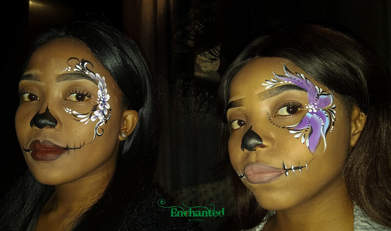 Simple but elegant Sugar Skull designs to fit a Day of the Dead themed event