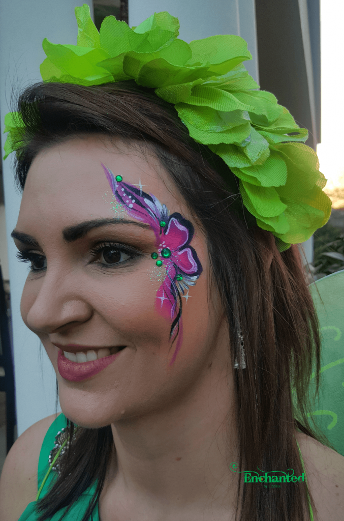 Face painting at a bachelorette party is a fun and colourful way to put some smiles on faces